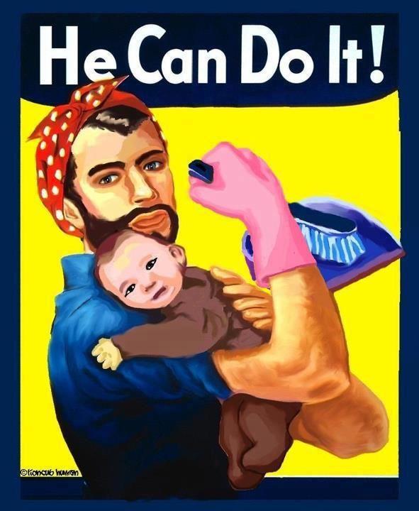 Παραμένει μεγάλη η «ψαλίδα» ανδρών - γυναικών στις δουλειές του σπιτιού.